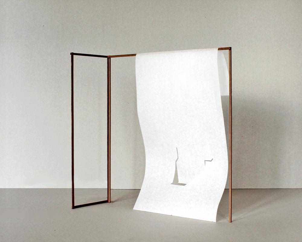 Luoghi da abitare. Scale model. W  ood, japan paper 3  00 x 300 l 300 x 80 cm.   2014.15
