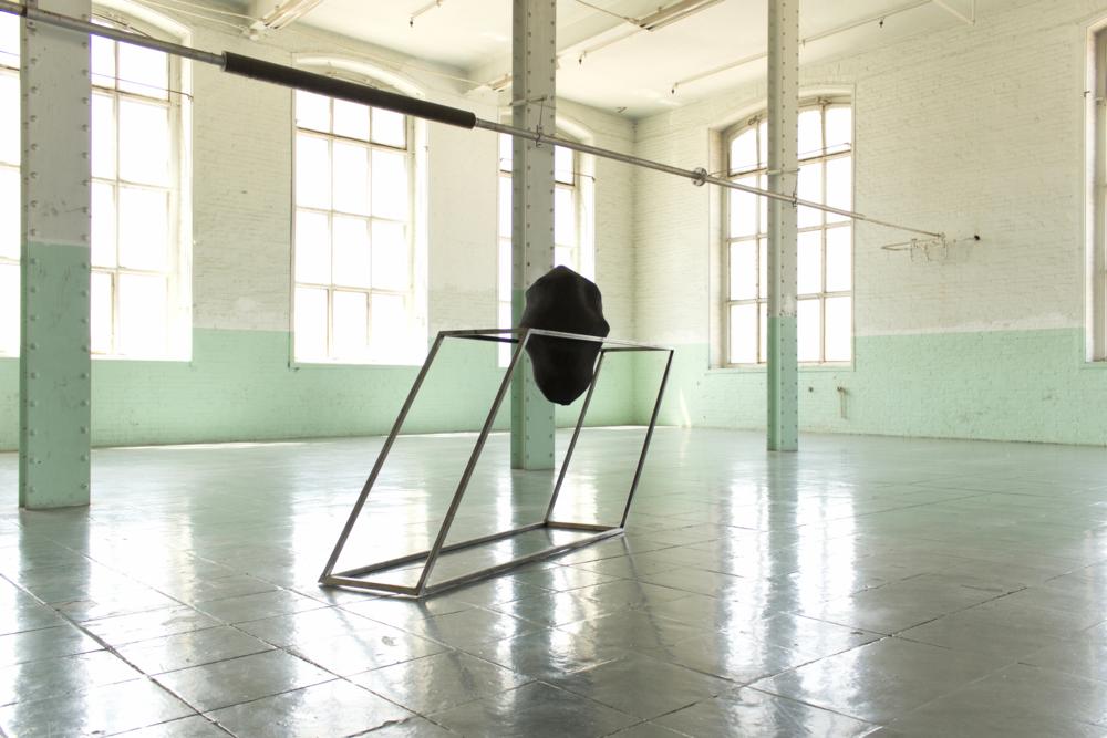 A drift metal structure 200 x 100 45 cm / 170 x 100 x 69 cm / 220 x 10 x 45 cm and ceramic. Barcelona, Spain. 2013/2015