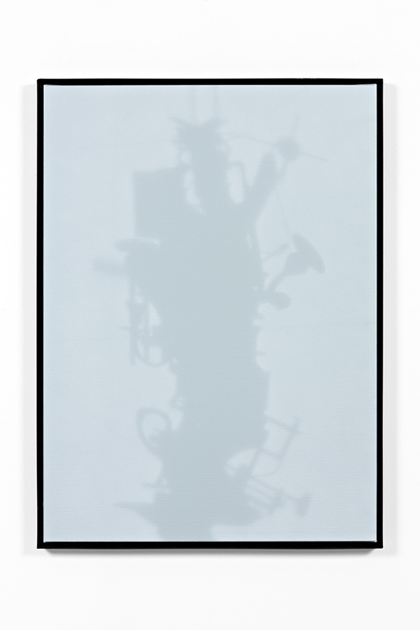 Shadow Canvas # 18 (2015) Acrylic on canvas, steel frame. 97 x 70 cm.
