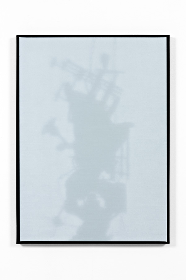 Shadow Canvas # 14 (2015) Acrylic on canvas, steel frame. 180 x 120 cm.