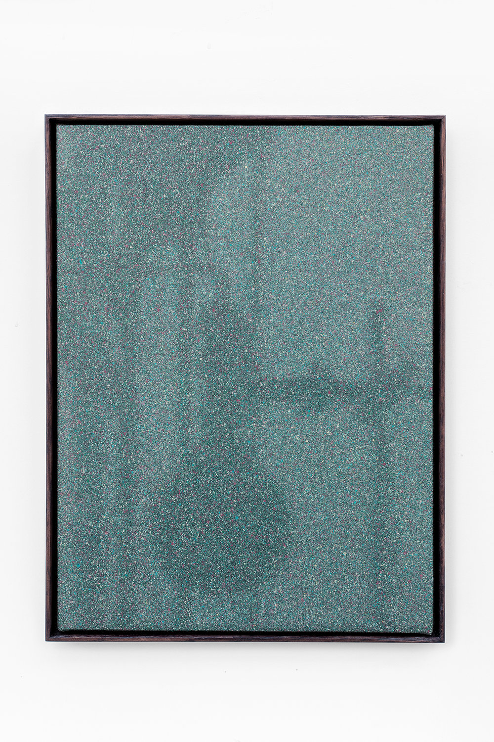 «Shadow Canvas # 42» 2017 Acrylic paint and gesso on canvas over wood panel. 42 x 32 cm with oak frame.