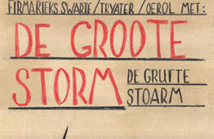 'De Groote Storm' - 2005  In co-regie van Rieks Swarte en Gienke Deuten, een coproductie van Tryater en Firma Riekse Swarte.