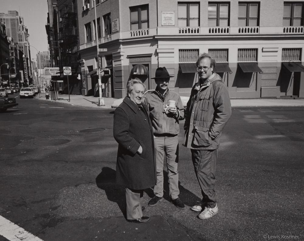 Aaron Siskind, Charlie Traub & Jerry Gordon, NY, 1980's