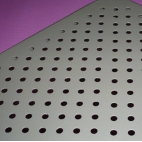 – a punched plate grid-