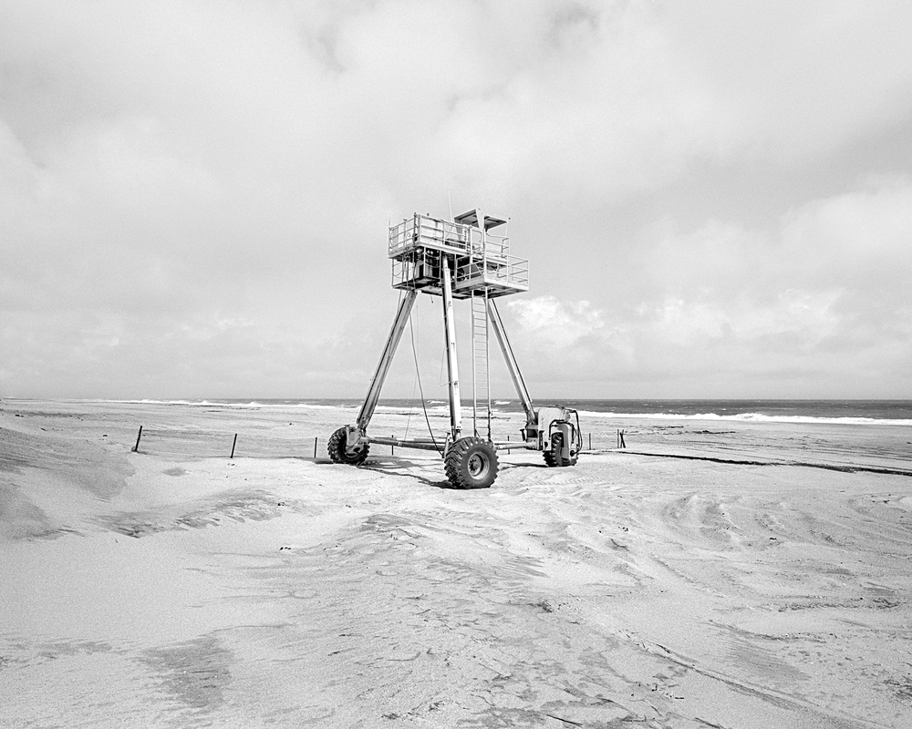 Coastal Research Amphibious Buggy, or CRAB, is used for a a beach nourishment project north of Rodanthe to protect Highway 12 from storm damage and overwash.