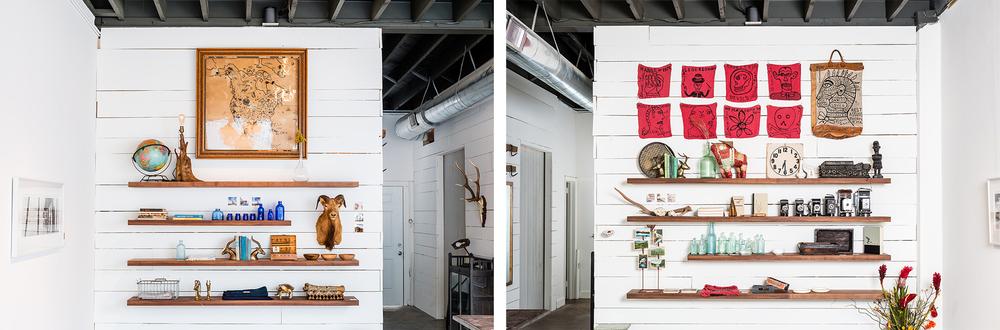 Holder Goods and Crafts shelves
