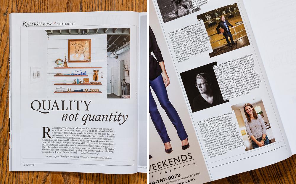 Walter Magazine Novermber 2015 spread 2