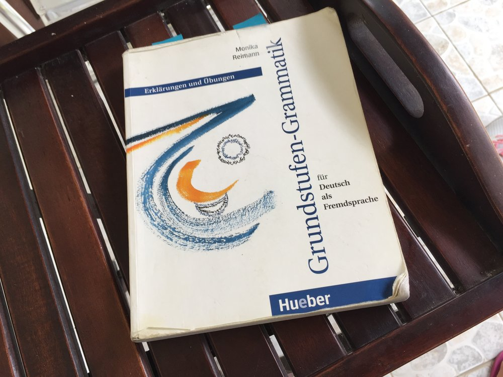 The German grammar book I bought 5 years ago and I never complete.