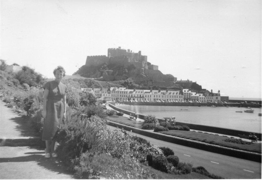 Margaret, Mont Orgueil Castle, 1961