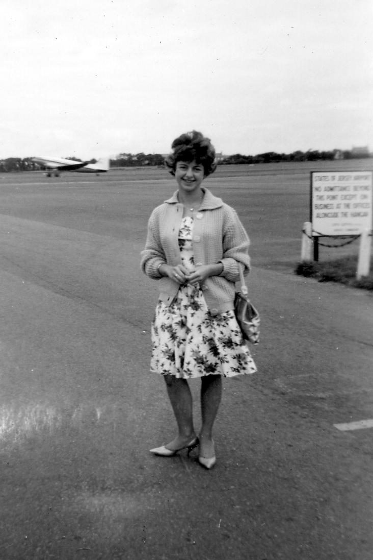 Ann, Jersey Airport, 1961