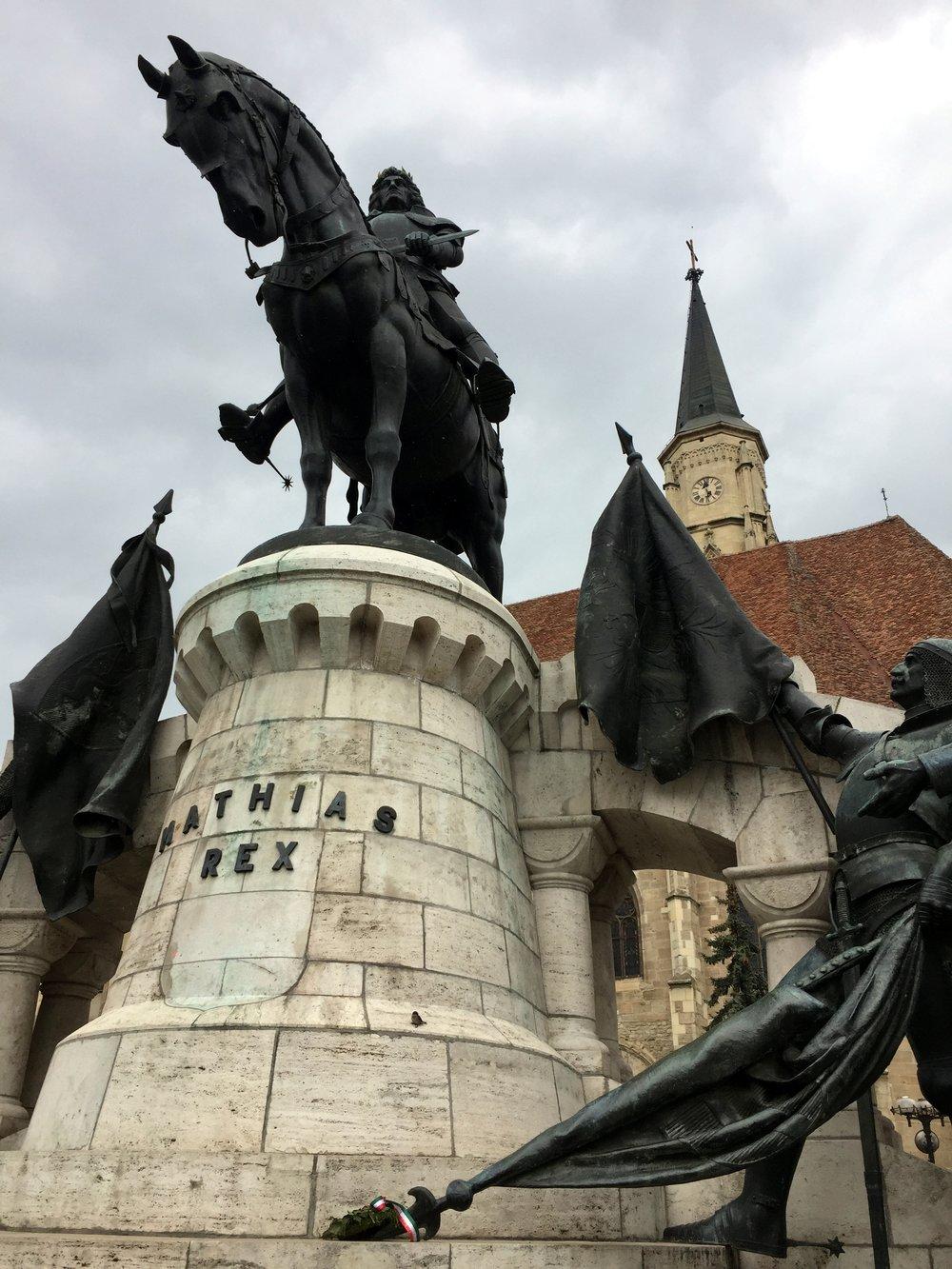 Statue of Matthias Corvinus, Cluj