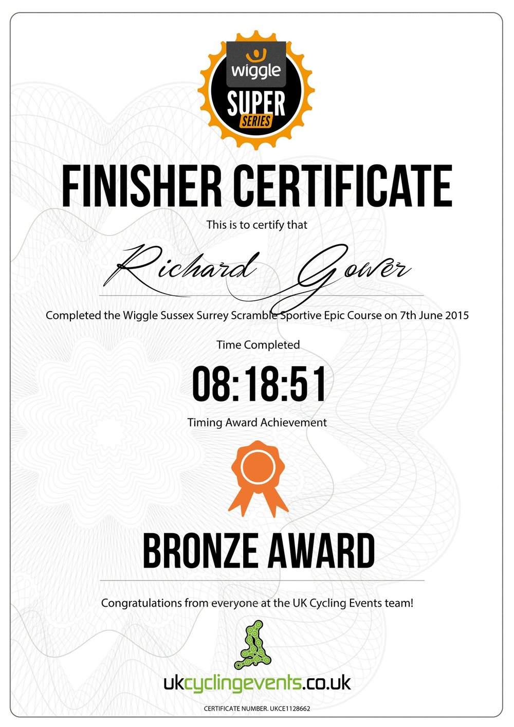 RichardGowerCertificate - Wiggle Sussex Surrey June 7 2015.jpg