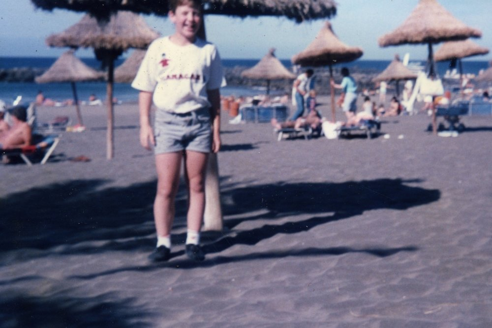 Playa de las Americas beach - early 1980s
