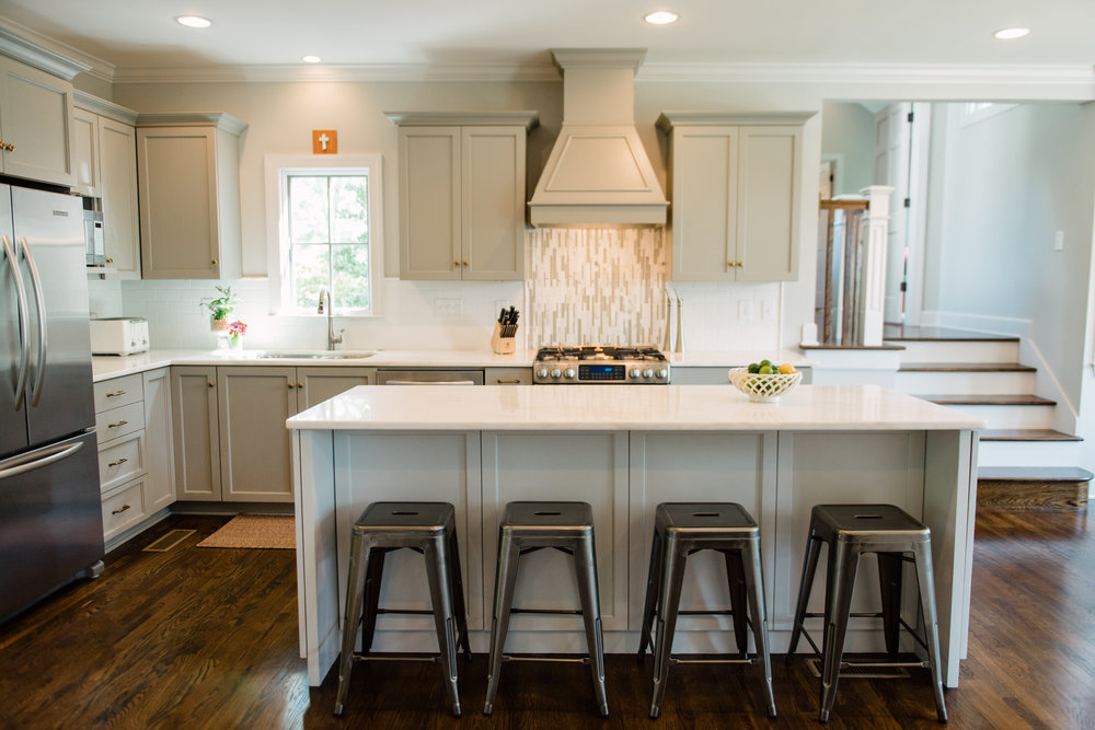 Target Carlisle Metal Counter Stool for this family with young boys in Homewood, AL. Kitchen designed by Katrina Porter Designs. Photographed by Paula Coldiron.