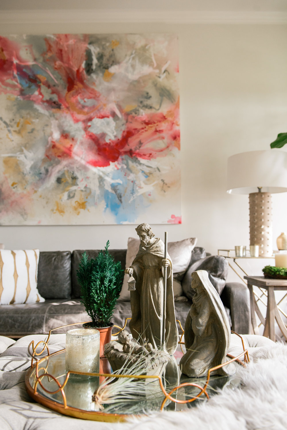 Room designed and painting commissioned by Katrina Porter Designs. Artist: Carrie Pittman. Photo by Paula Coldiron.