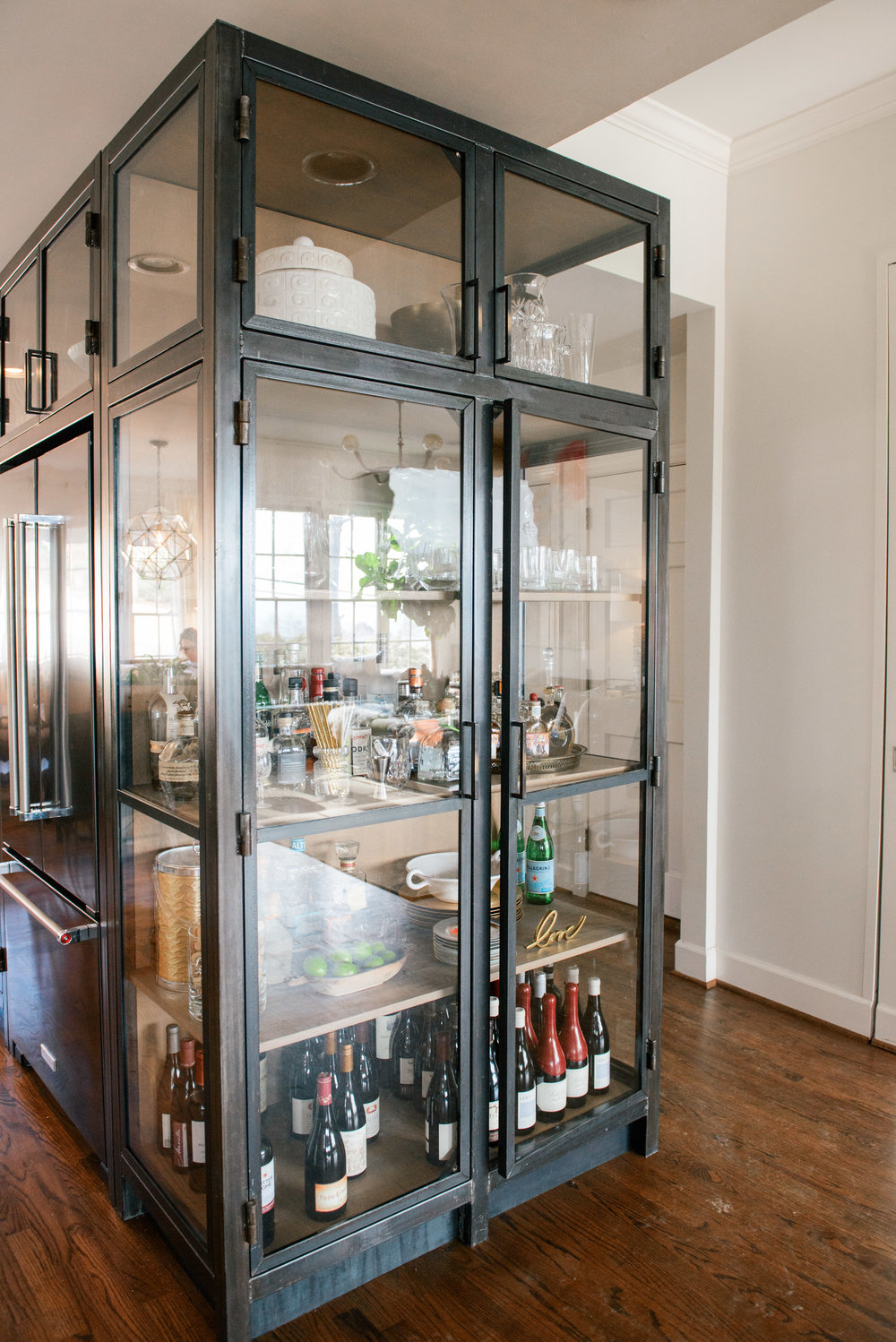 Steel and wood cabinet designed by Katrina Porter Designs. Photo by Paula Coldiron.