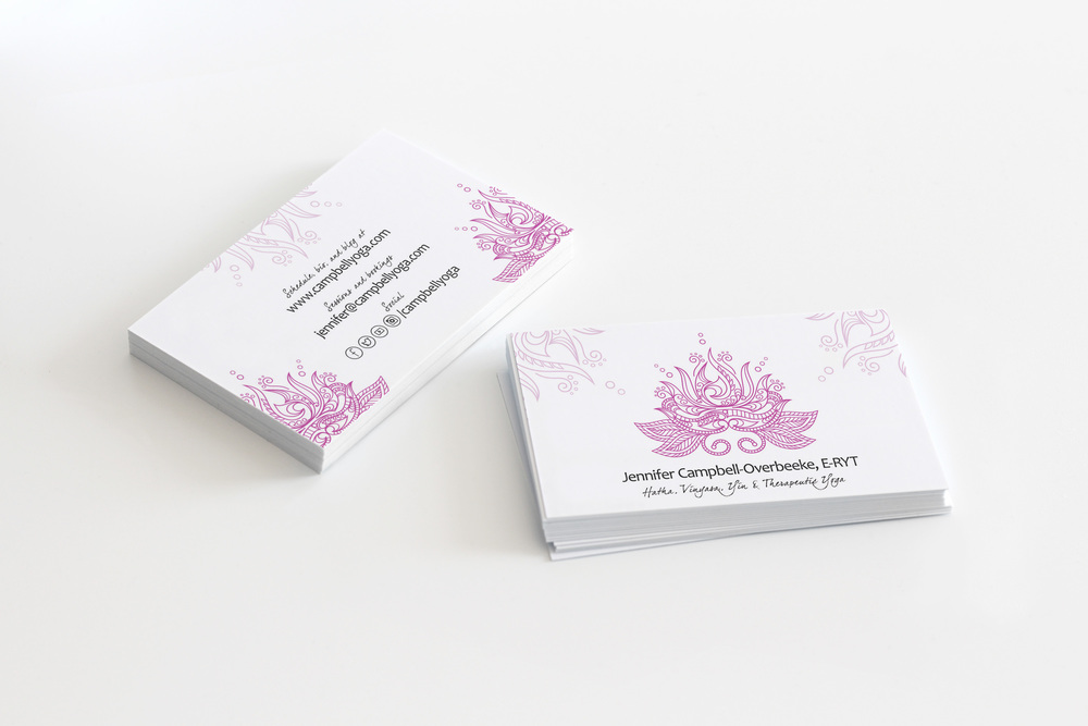 New Yoga Business Card Design — Design Half Full | Graphic Design ...