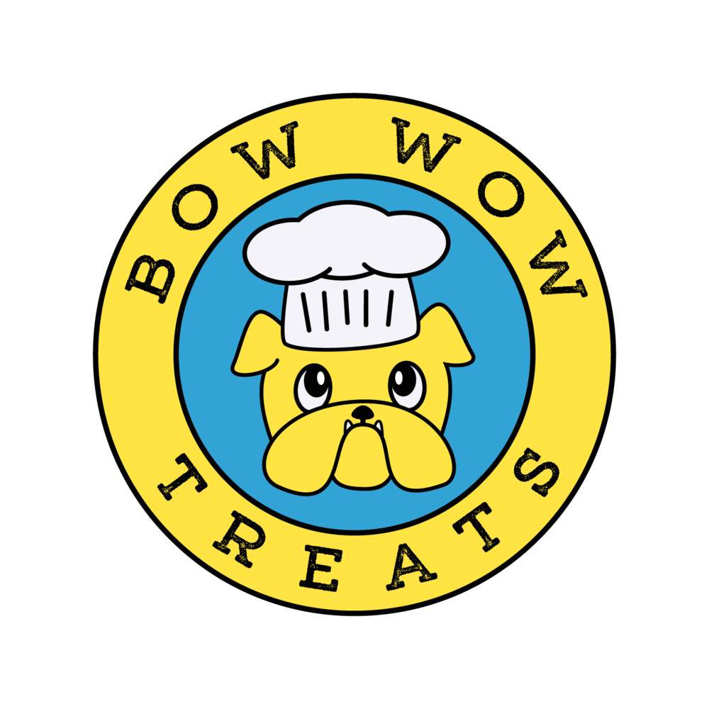 Logo for Bow Wow Treat Truck, an food truck for dogs selling organic homemade dog treats.