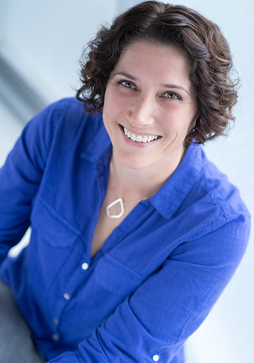 Julia Goldberg Dumas, graphic designer at Design Half Full, South Windsor, CT