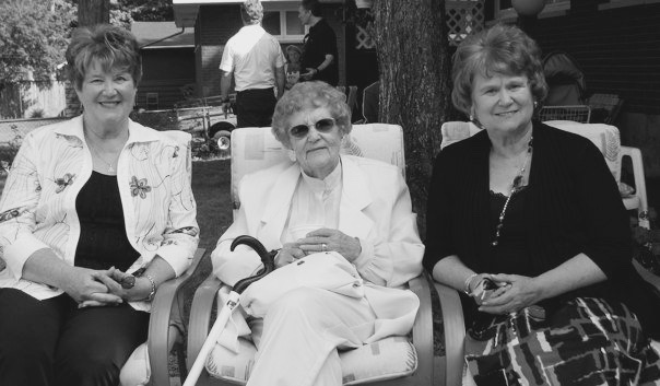 Great-Grandma with with her daughters - July 2009