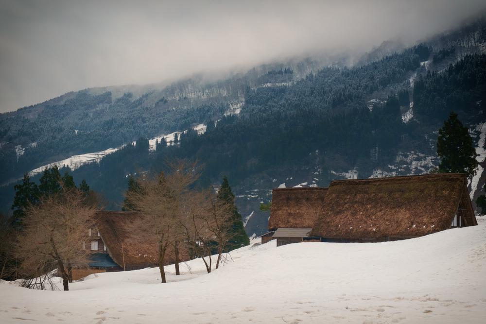 Village d'Ainokura, dans les Alpes japonaises.