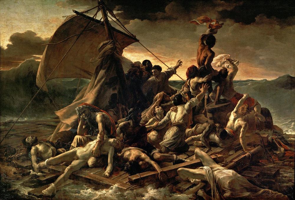 Le radeau de la méduse, célèbre tableau de Géricault.