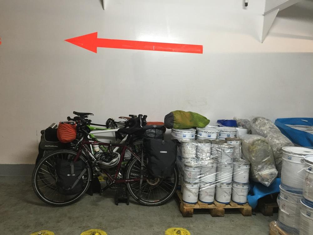 Tous les vélos du bateau au même endroit, soit 3 !