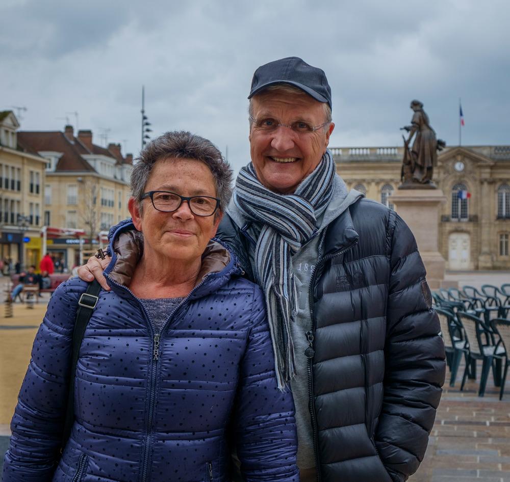 Martine et François, à Beauvais.