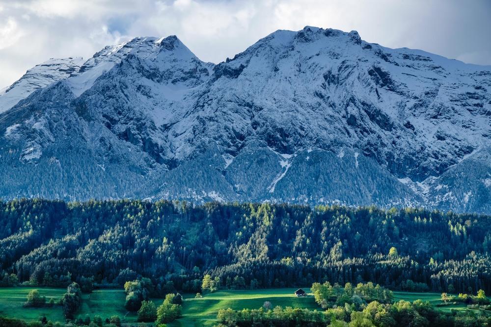La vue à la sortie d'Innsbruck, au Tirol.