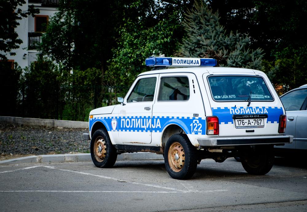 Une Lada comme auto de police.