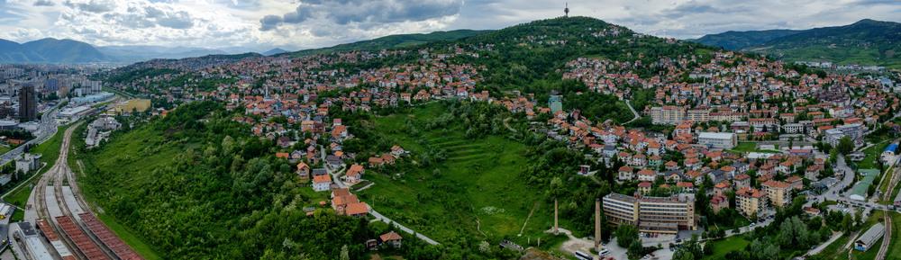 Les collines de Sarajevo.