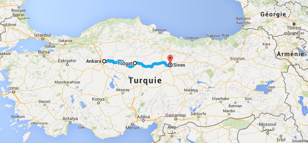 Un autre 500 km en Turquie.