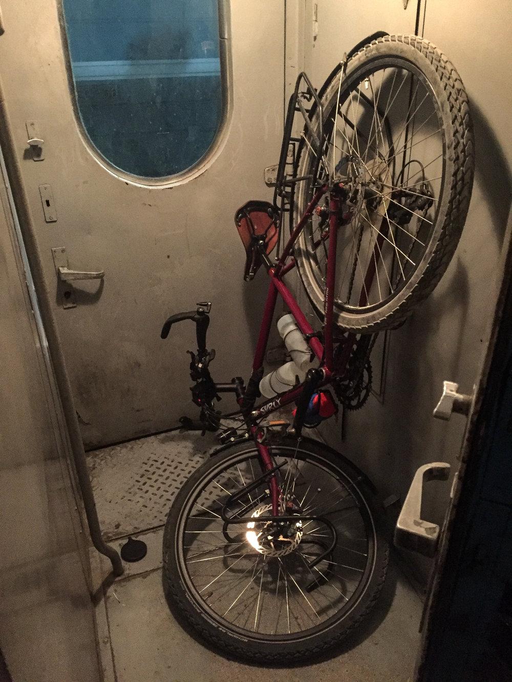 Un compartiment exprès du train pour les vélos.