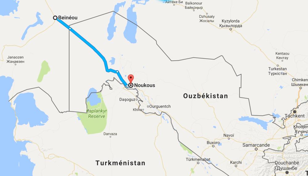 500 km entre Béïnéou et Noukous.