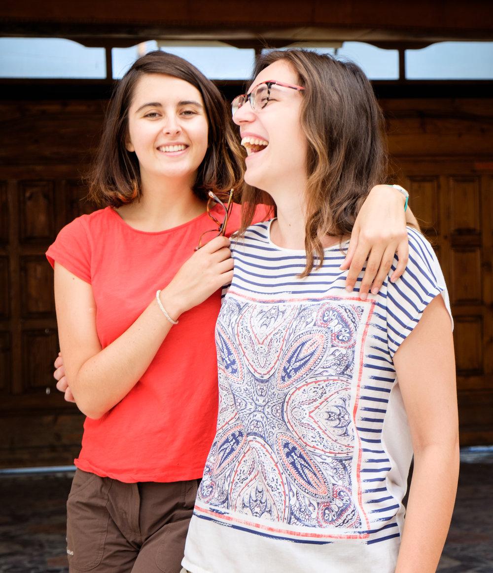 Les sympathiques Françaises Margot et Anne.