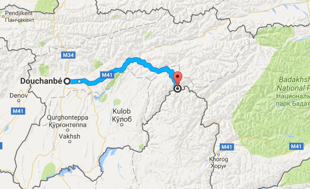 Première étape sur la M41: 285 km sur la vieille route scénique, mais plus que défoncée !