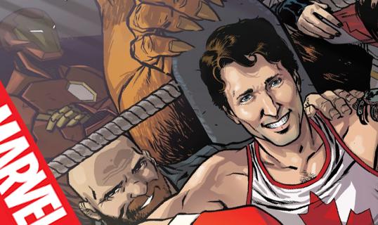 Justin Trudeau, héros de comic chez Marvel.