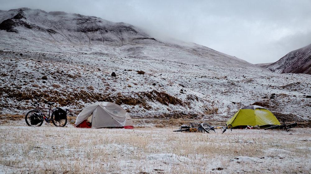 Pas très chaud dans les tentes !