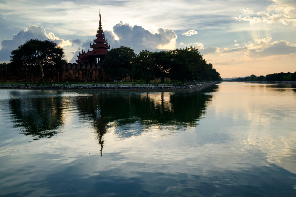 L'enceinte du palais à Mandalay.