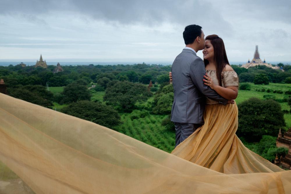 Quelques photos de mariage prise au sommet d'un des temples.