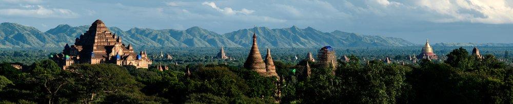 Panorama des temples de Bagan.