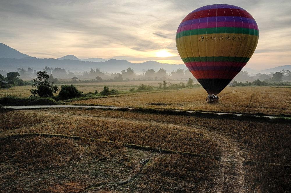 Montgolfière à Vang Vieng.