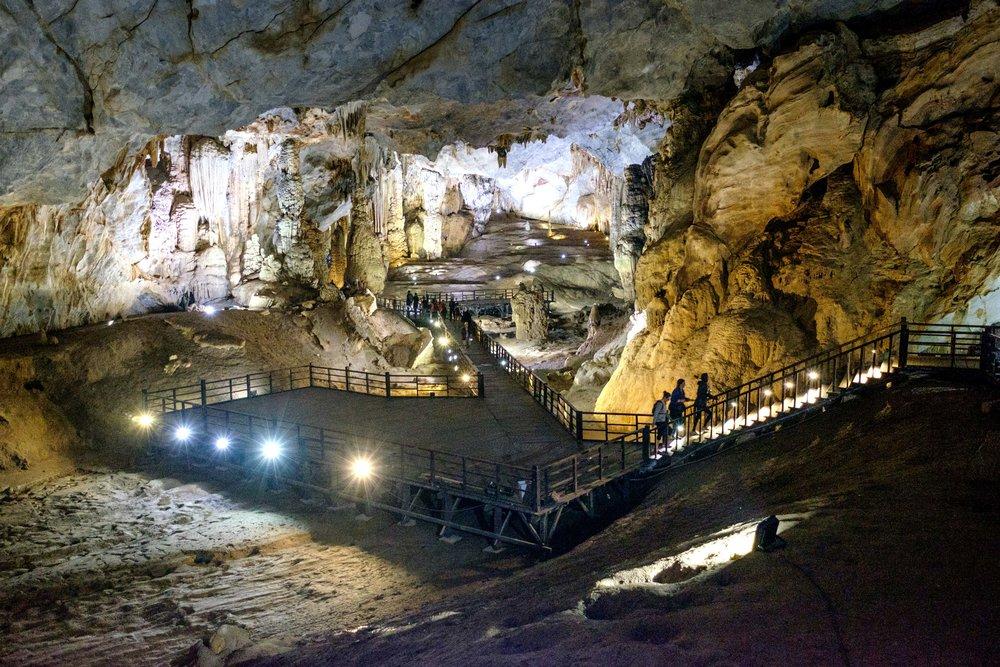 L'entrée de la Paradise Cave de Phong Nha.