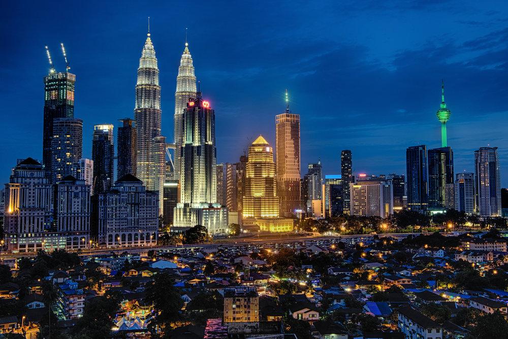 La vue de mon salon à Kuala Lumpur.