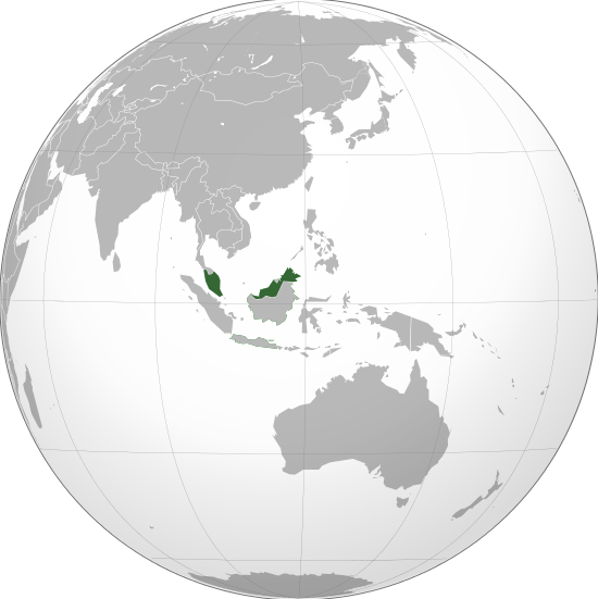 La Malaisie dans le monde. (image  wikipédia )
