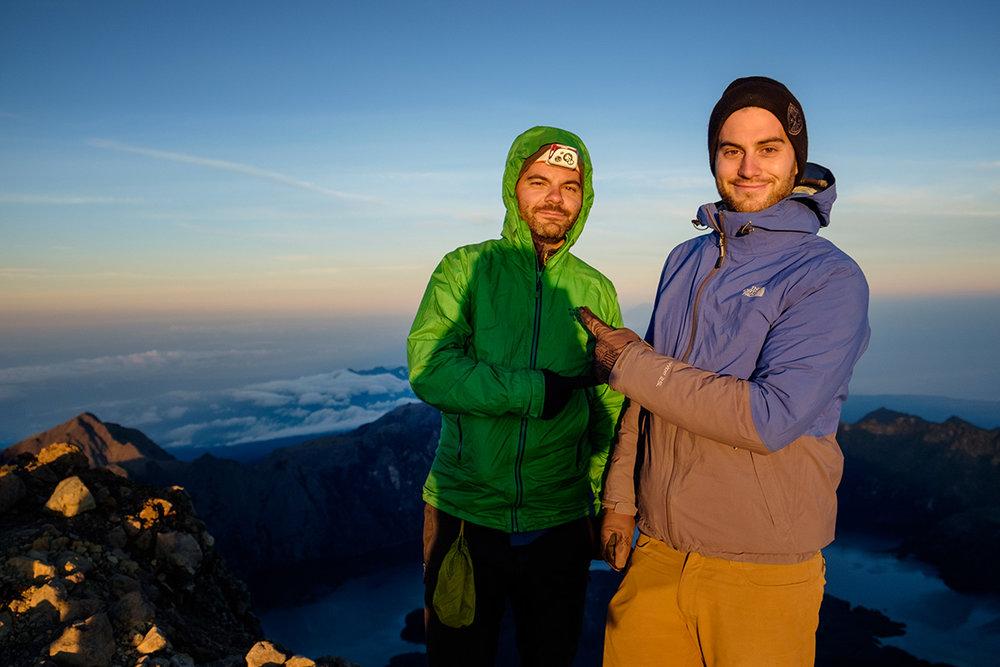 « C'est lui le meilleur. », au sommet à 3726 mètres d'altitude.