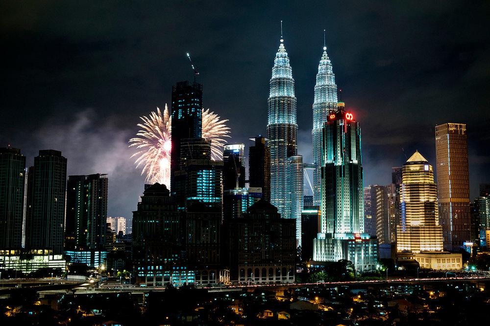 31 décembre à Kuala Lumpur, en direct de mon (ex) appartement.