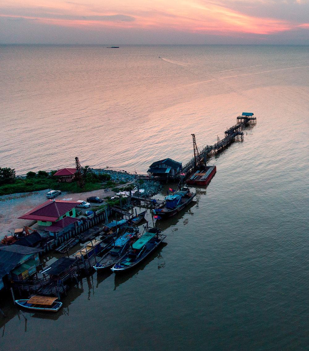 Côte ouest de la Malaisie.