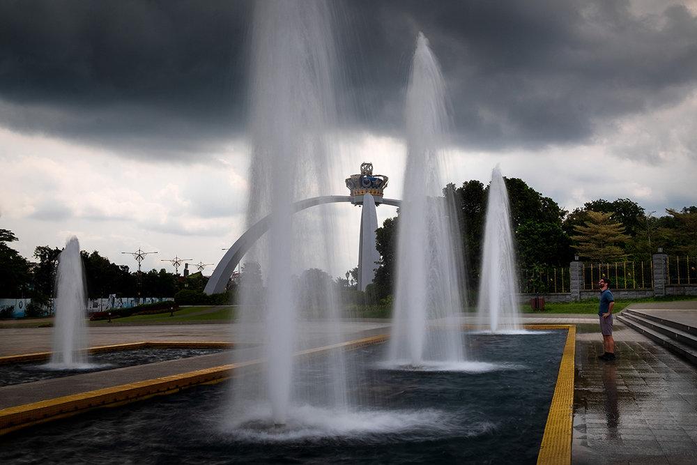 Les fontaines du sultan de Johor, à Johor Bahru, la capitale de l'État.