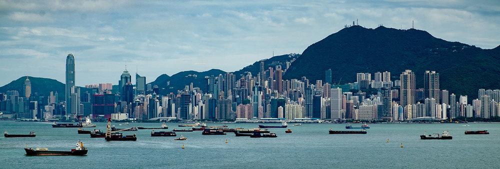 Hong Kong, vue de sa baie.